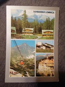Pohlednice - Tatranská Lomnica, prošla poštou