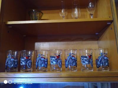 Sada 6+1 skleniček pro motorkáře