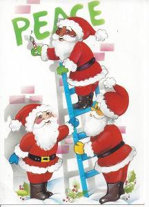 3x Santa Klaus
