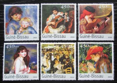 Guinea-Bissau 2003 Umění, Renoir Mi# 2676-81 Kat 10€ 0696