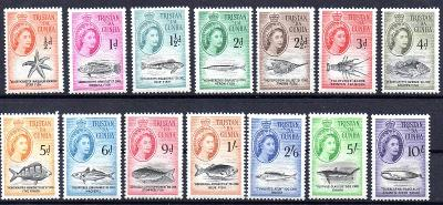 Tristan da Cunha 1960, kompl. serie ryby, angl. kolonie, svěží