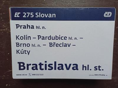 Směrová cedule EC 275/274 SLOVAN