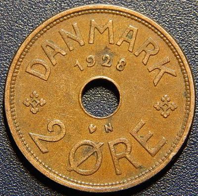 Dánsko 2 Ore 1928 N, GJ XF č28914