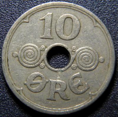 Dánsko 10 Ore 1926 HCN, GJ R XF č33652