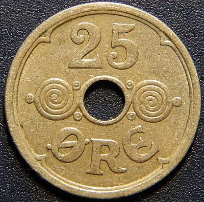 Dánsko 25 Ore 1934 N, GJ R XF č28852