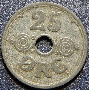 Dánsko 25 Ore 1942N, GJ RR XF č28848