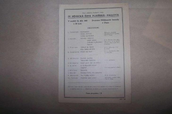 IV.PĚVECKÁ ŽUPA PLZEŇ 1943 /B165/ - Antikvariát
