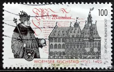 BUNDESPOST: MiNr.1773 Diet of Worms 100pf, 500th Anniversary 1995
