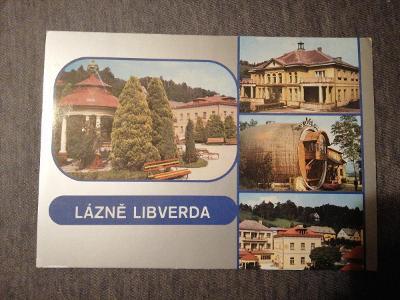 Pohlednice - Lázně Libverda, prošla poštou