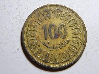 Tunisko 100 Milliemes 1993 XF č31520