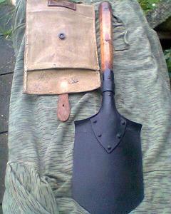 Vojenská polní lopatka  neznámá s obalem nová  na jehličí a mlok