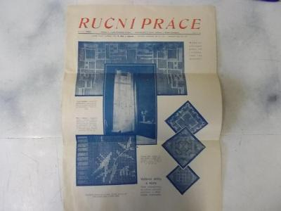 Leták reklama Kuchynský kalendář 1930 šití vyšívání ruční práce moda