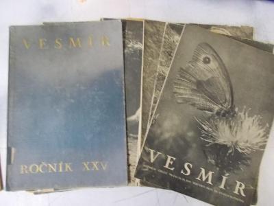 Starý časopis naučný příroda Vesmír První republika sada a desky 1937