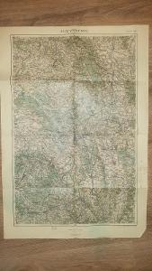 Stará vojenská mapa prozatimní vydaní 1932-Vysoké Mýto-Litomyšl-Náchod