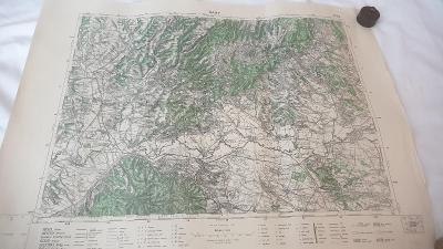 Stará vojenská mapa 1939-Šahy-Chirvatice-Hont-Nagyoroszi-Drienovo