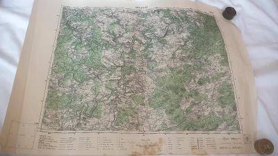 Stará vojenská mapa 1938-Kralovice-Třemošná-Kozojedy-Zbiroh-Mléčicy