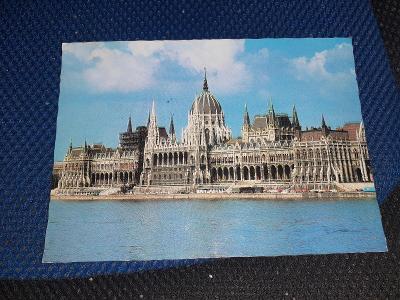 Pohlednice Budapešť, prošlé poštou.