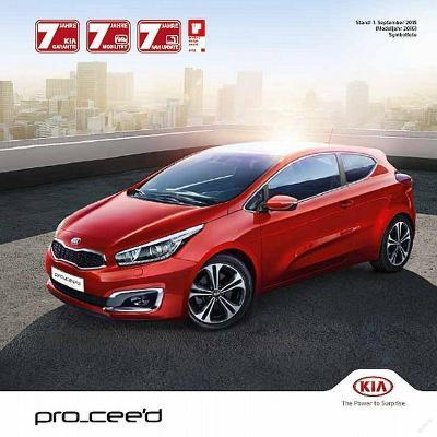 Kia Pro Ceed 09 / 2015 prospekt AT
