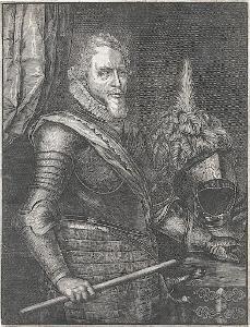Mořic Oranžský podle Mierevelda, mědiryt, 17. stol