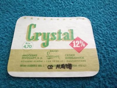 Crystal 12% české Budějovice etiketa
