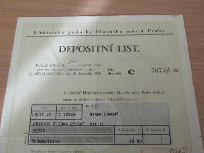 depositni list