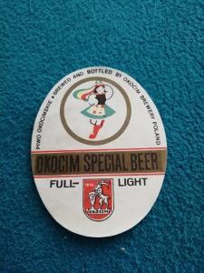 Okocim special Beer pivní  etiketa
