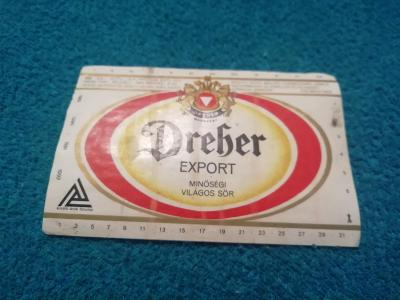 Dreber export Budapešť pivní etiketa