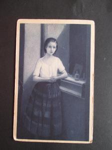 Stará pohlednice:    Q.Mánes    MF  Od 1 kč