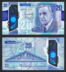 SEVERNI IRSKO 20 Pounds 2019 2020 DANSKE BANK - POLYMER UNC