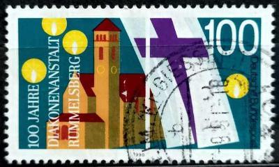 BUNDESPOST: MiNr.1467 Philippuskirche, Rummelsberg 100pf 1991