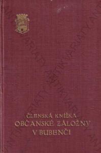 Členská knížka Občanské záložny v Bubenči 1946