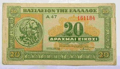 Řecko 20 Dr 1940