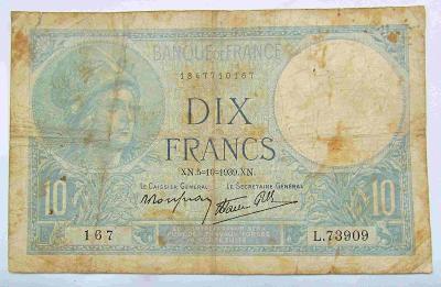 Francie 10 Fr 1939