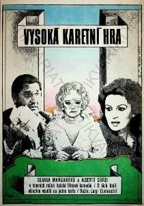 Vysoká karetní hra Antonín Sládek film plakát A3