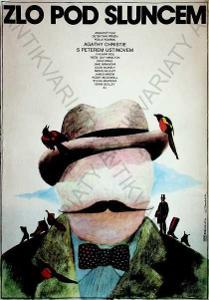 Zlo pod sluncem Jan Tománek film plakát P. Ustinov
