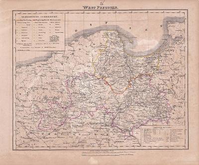 MAPA - WEST PREUSSEN - CCA 1880 - 28-LW82