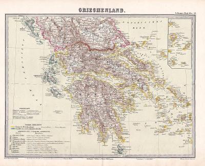 MAPA - ŘECKO - GRIECHENLAND - CCA 1910 - 28-LW86