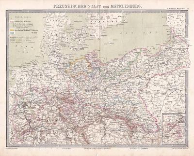 MAPA - PRUSKO A MECKLENBURG - CCA 1910 - 28-LW87