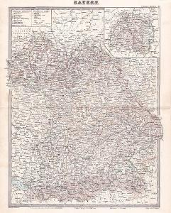 MAPA - BAYERN - BAVORSKO - CCA 1910 - 30-LW2