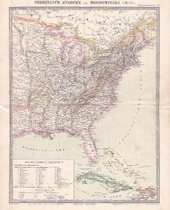 MAPA - AMERIKA - VÝCHOD - CCA 1910 - 30-LW11