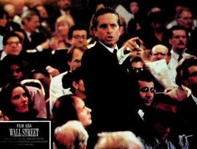 Wall Street fotoska Stone Douglas Charlie Sheen