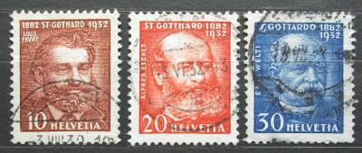 Švýcarsko 1932 Osobnosti Mi# 259-61 Kat 5€ 0701