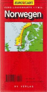 Euro-Kart Norwegen (Norsko) mapa