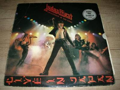 Judas Priest ‎– Unleashed In The East (1979) 1.Press UK