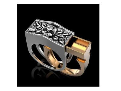 Prsten s tajnou schránkou na jed