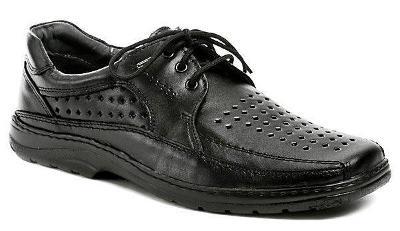 Koma Pánské letní polobotky 519 černá pánská obuv
