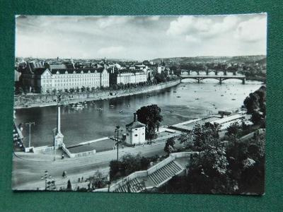 Praha - Vltava pod Letnou  (velký formát)
