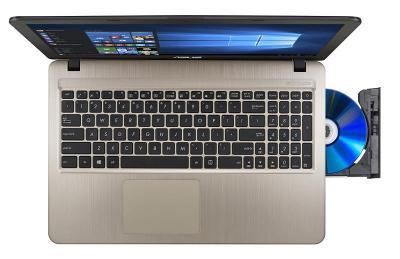 Asus X540s čtyřjádro N3700 až 2,4Ghz/4GB RAM/1TB HDD/Intel HD/Win 10