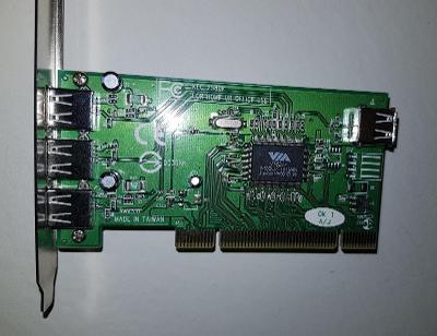 KEC 2580E Kouwell 3+1 USB řadič / PCI karta