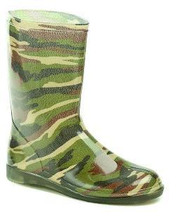Svit Holínky Army zelené dámská obuv